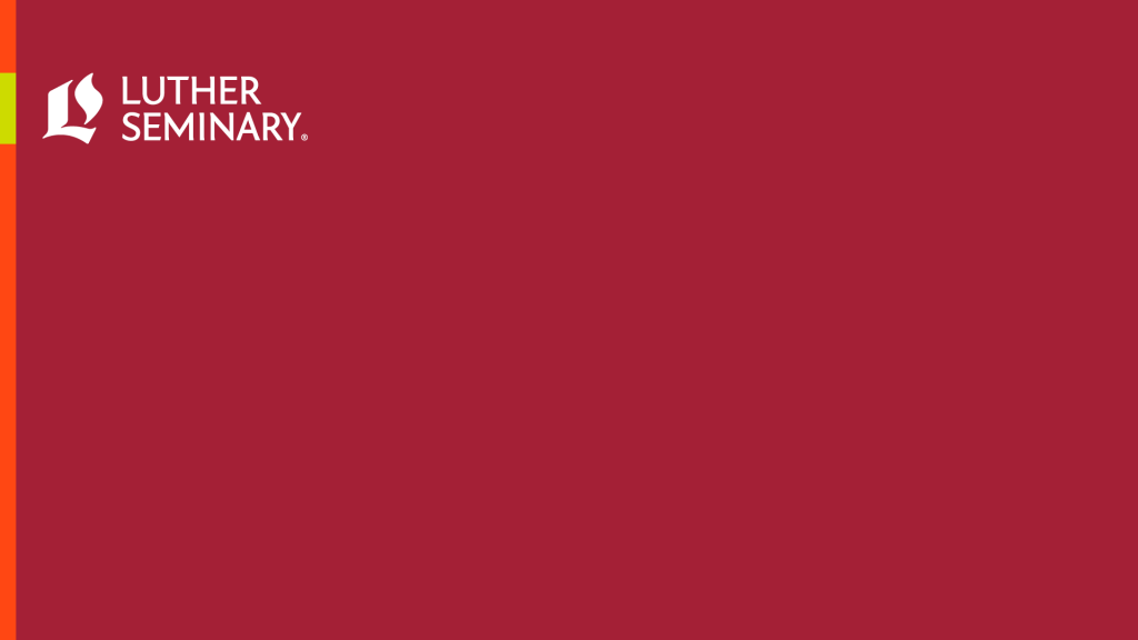 maroon zoom background with white Luther Seminary logo
