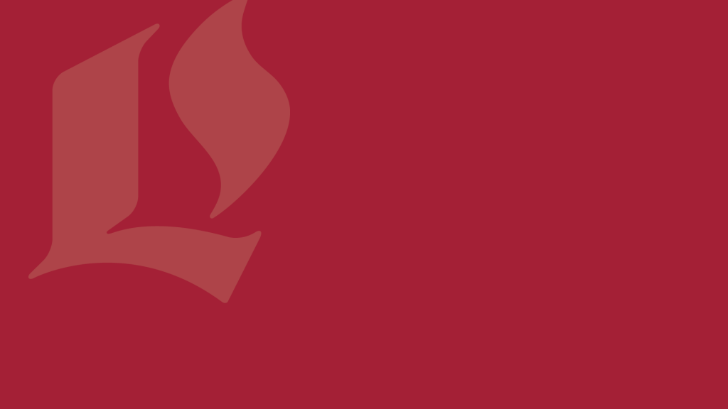 Maroon Zoom background with Luther Seminary logo