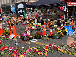 Photo of George Floyd Memorial in Minneapolis, MN